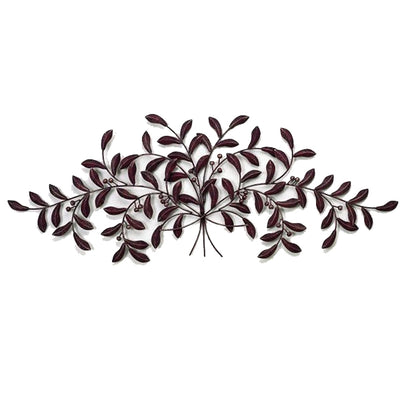 Olive Leaf Wall Plaque - Large-Iron Accents