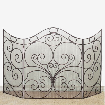 Oversized Scroll Fire Screen