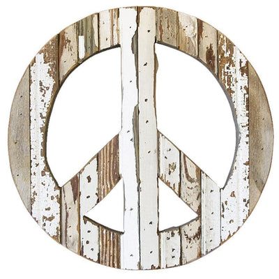 Peace Sign Reclaimed Wall Plaque
