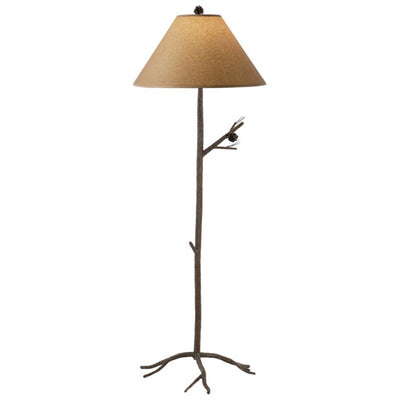 Pine Wrought iron Floor Lamp