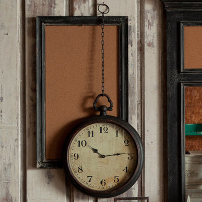 Pocket Watch Wall Clock | Iron Accents