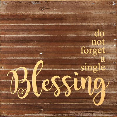 Reclaimed Sign - Blessing-Iron Accents