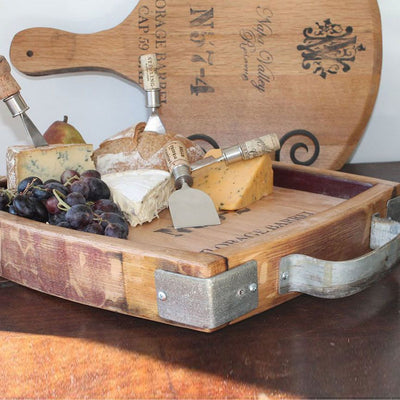 Reclaimed Wine Cask Cheese Tray