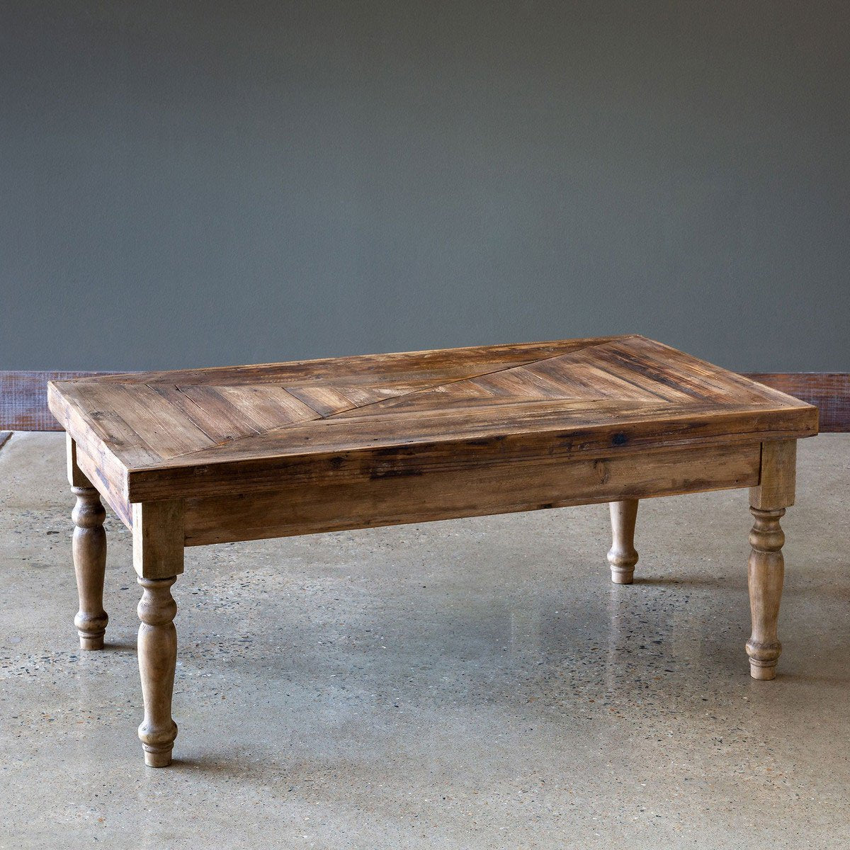 Reclaimed Wood Coffee Table Iron Accents