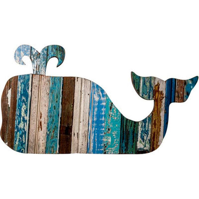 Whale Reclaimed Wood Plaque