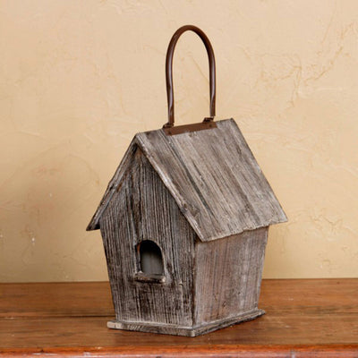 Rustic Birdhouse Cottage | Iron Accents