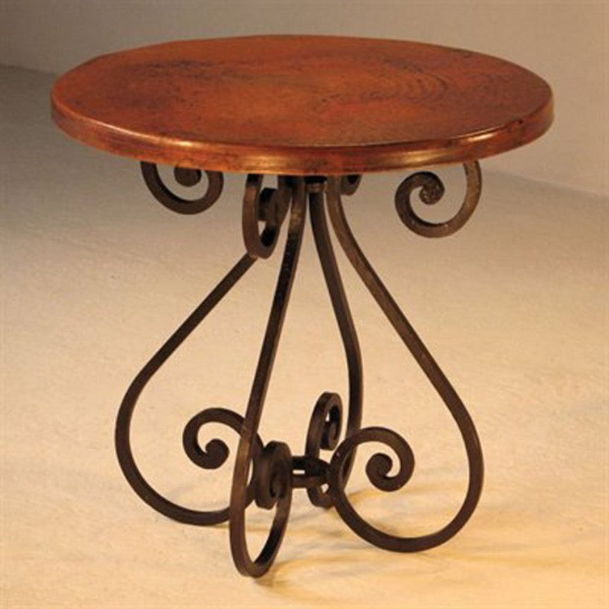 Bailey Round Dining Table Base Iron Accents