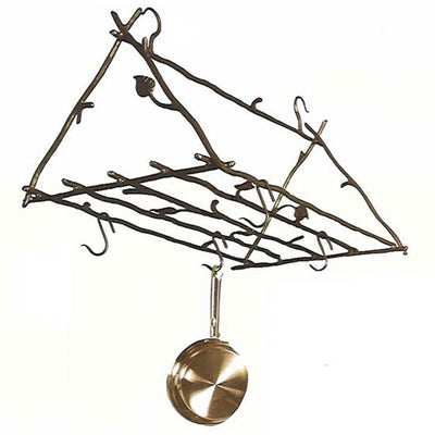Sassafras Forged Leaf Pot Rack