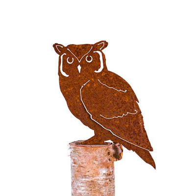 Screech Owl Garden Art | Iron Accents