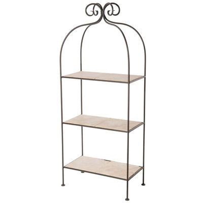 Scroll Double 3-Tier Shelf