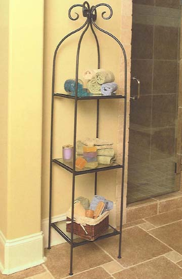 Scroll Single 3-Tier Shelf
