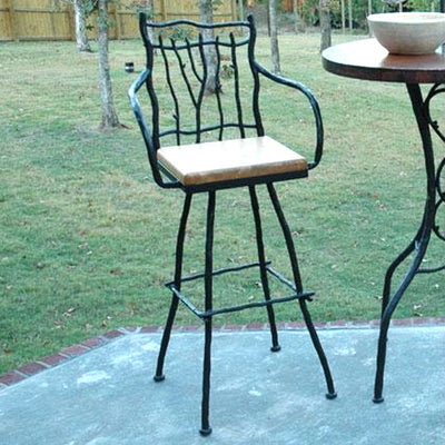 South Fork Bar Stool - Large | Iron Accents