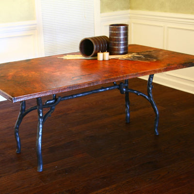 South Fork Dining Table / Base -72x42 | Iron Accents