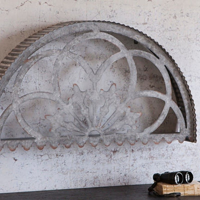 Stamped Half Medallion Wall Decor