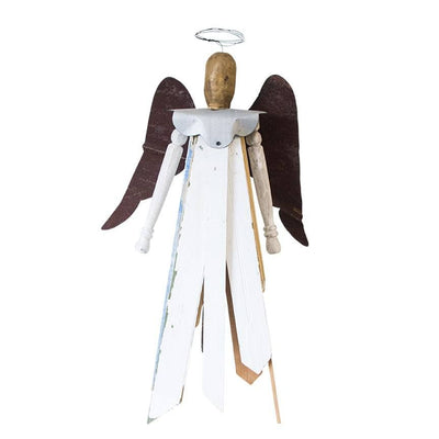 Standing Reclaimed Wood Angels
