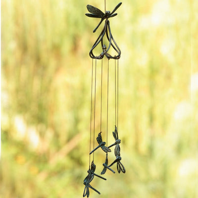 Stylized Dragonfly Wind Chime-Iron Accents