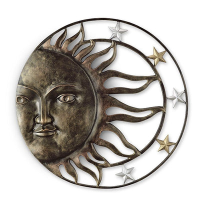 Sun and Stars Wall Plaque