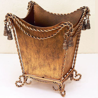 Swag & Tassel Waste Basket