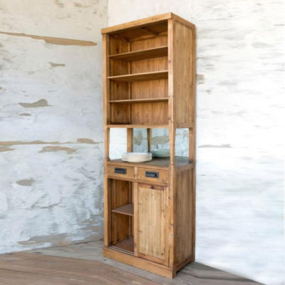 Tall Bar Back Cabinet | Iron Accents