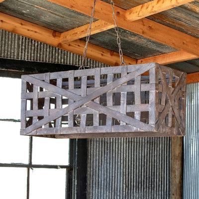 Tobacco Basket Light Fixture | Iron Accents