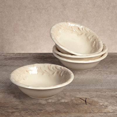 Acanthus Dessert Bowl (Set-4) | Iron Accents