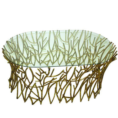 Twig Coffee Table w/ Glass Top