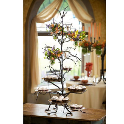 Twig Cupcake Server-Iron Accents