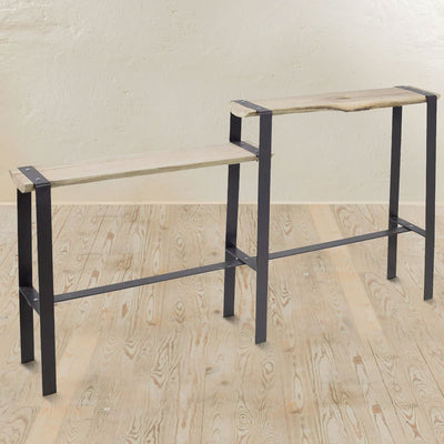 Urban Forge Console Table-Iron Accents