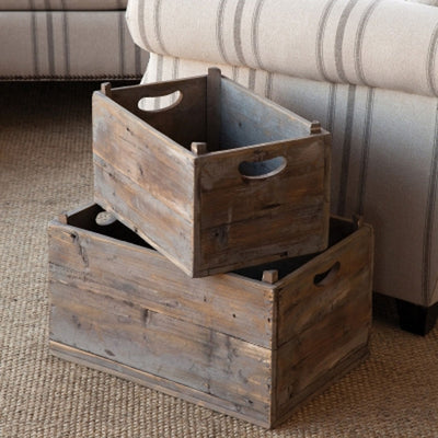 Vintage Produce Crates (Set-2) | Iron Accents