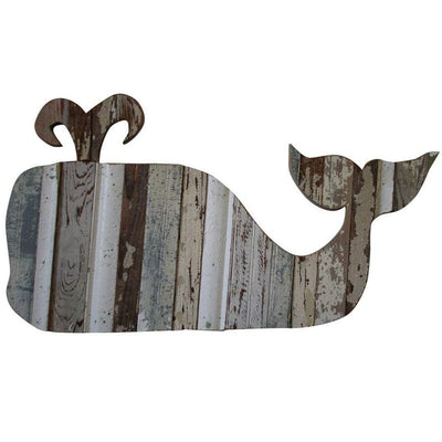 Whale Reclaimed Wood Wall Plaque