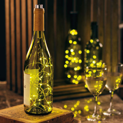 White Wine Bottle Lights | Iron Accents