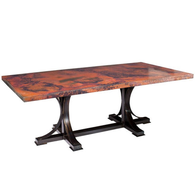 Winston Dining Table with Rectangular Copper Top