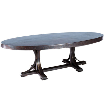 Winston Dining Table with Oval Zinc Top