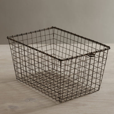Vintage Wire Locker Basket - (Set-6) | Iron Accents
