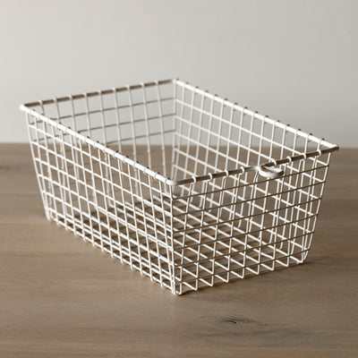 White Wire Locker Basket - (Set-6)
