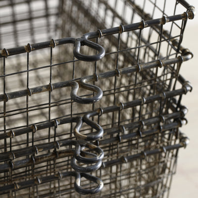 Closeup of Wire Locker Basket - (Set-6)