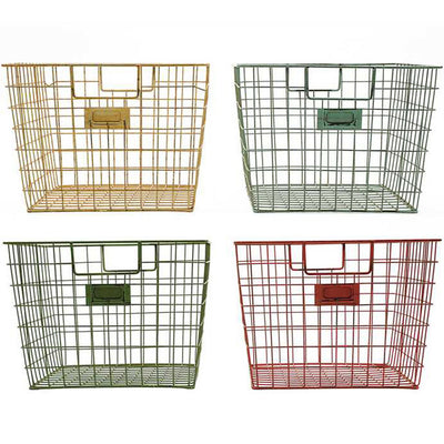 Wire Locker Basket (Set-4) | Iron Accents