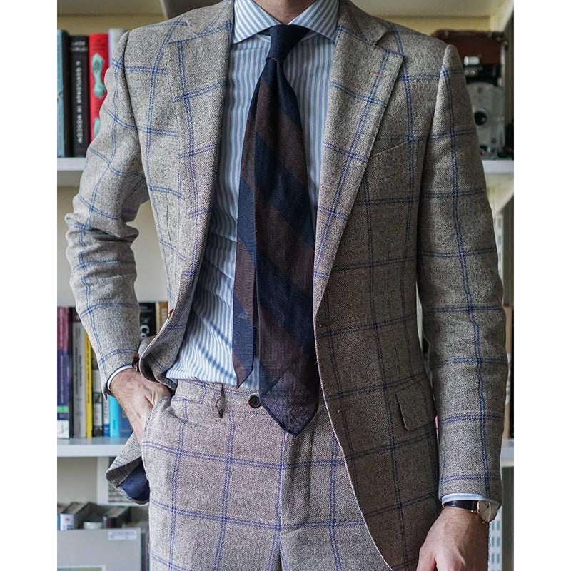 Work A Lapel Check Men's Blazer