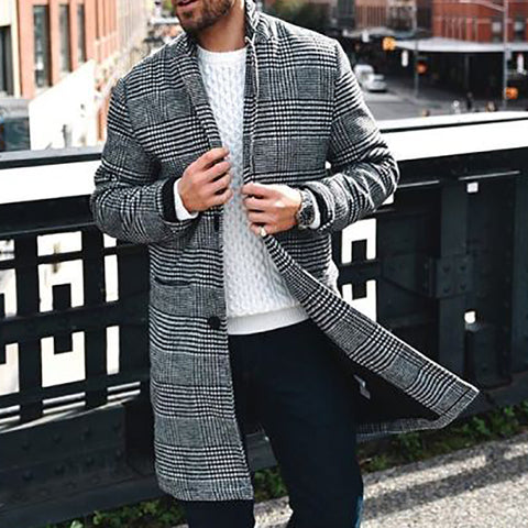 Formal A Lapel Check Coat