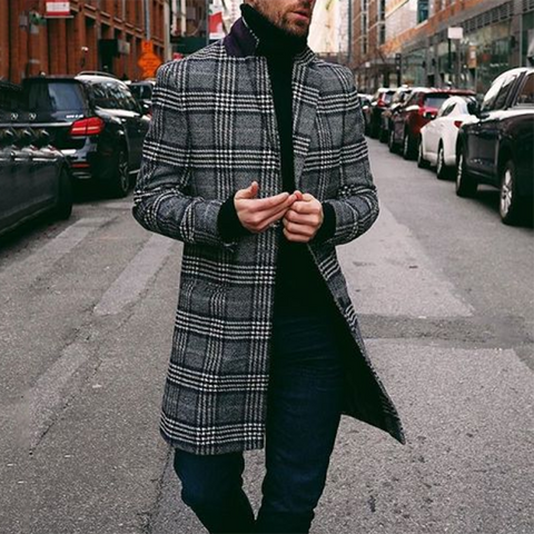 Casual Single Breasted Notch Lapel Coat Jacket