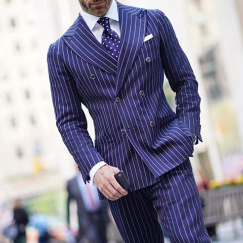 Mens Classic Formal Striped Blazer