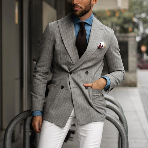 Double-breasted Peak Lapel Blazer