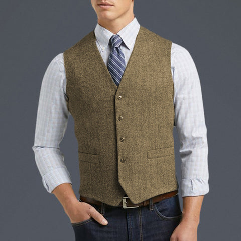 Men's Casual Fashion Solid Color Vest