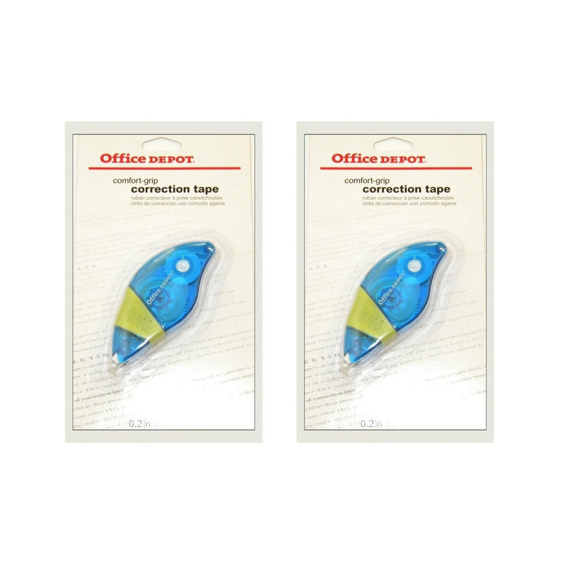 Office Depot Comfort-Grip Correction Tape, 2 Pack