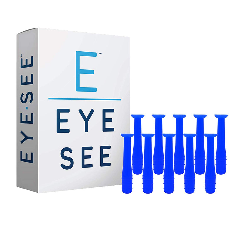 EyeSee Hard Contact Lens Remover RGP Solid Plunger, Blue, 10ct