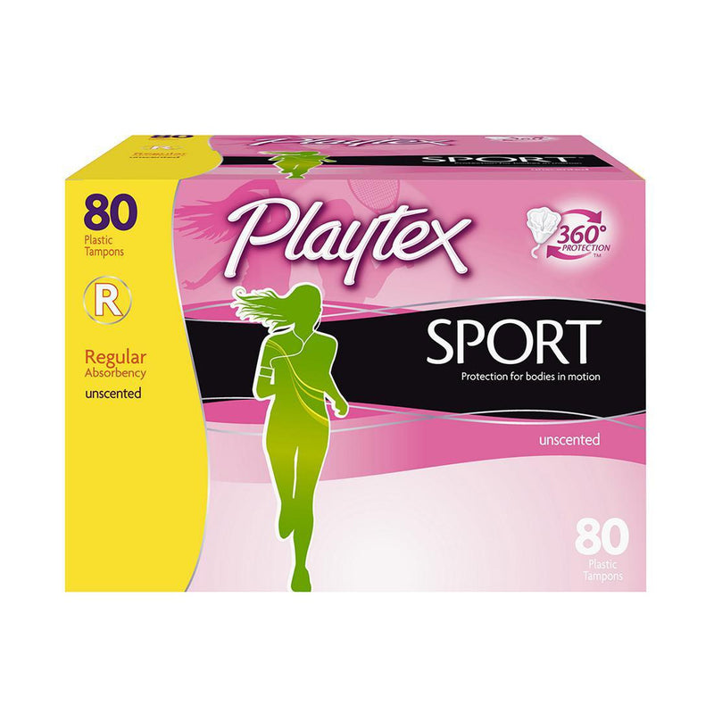 Playtex Sport Regular Absorbency Tampons, Unscented, 80 Ct