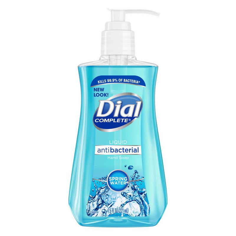 Dial Antibacterial Liquid Hand Soap, Spring Water, 7.5 Fl. Oz