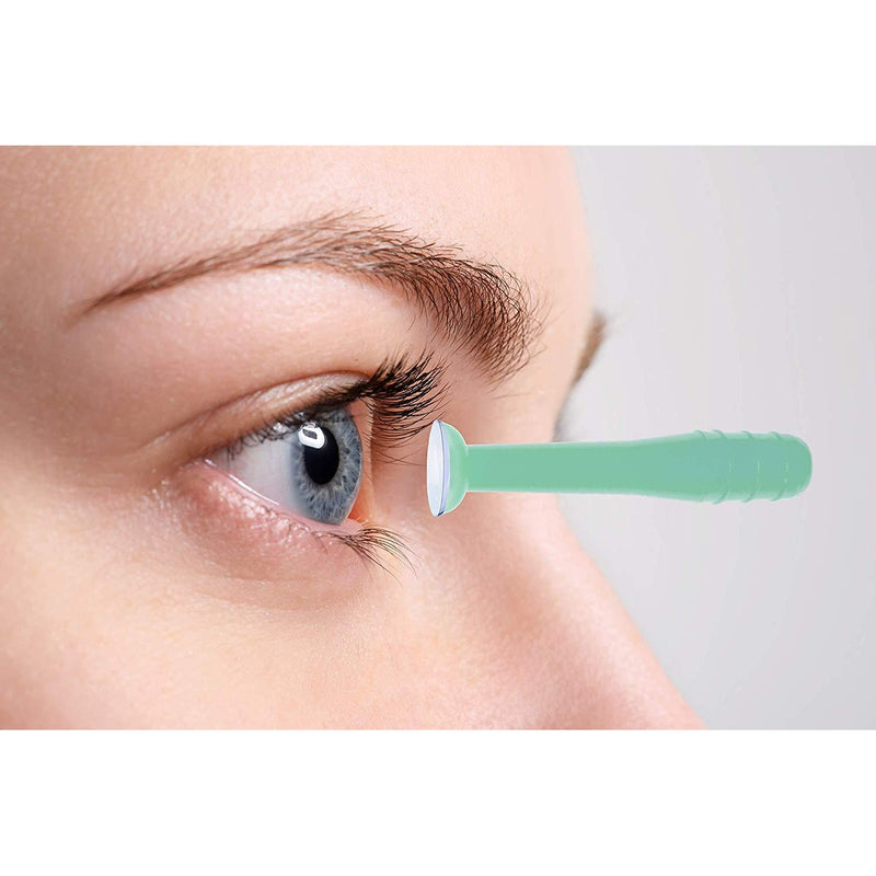 EyeSee Hard Contact Lens Remover RGP Plunger, Green, 10ct