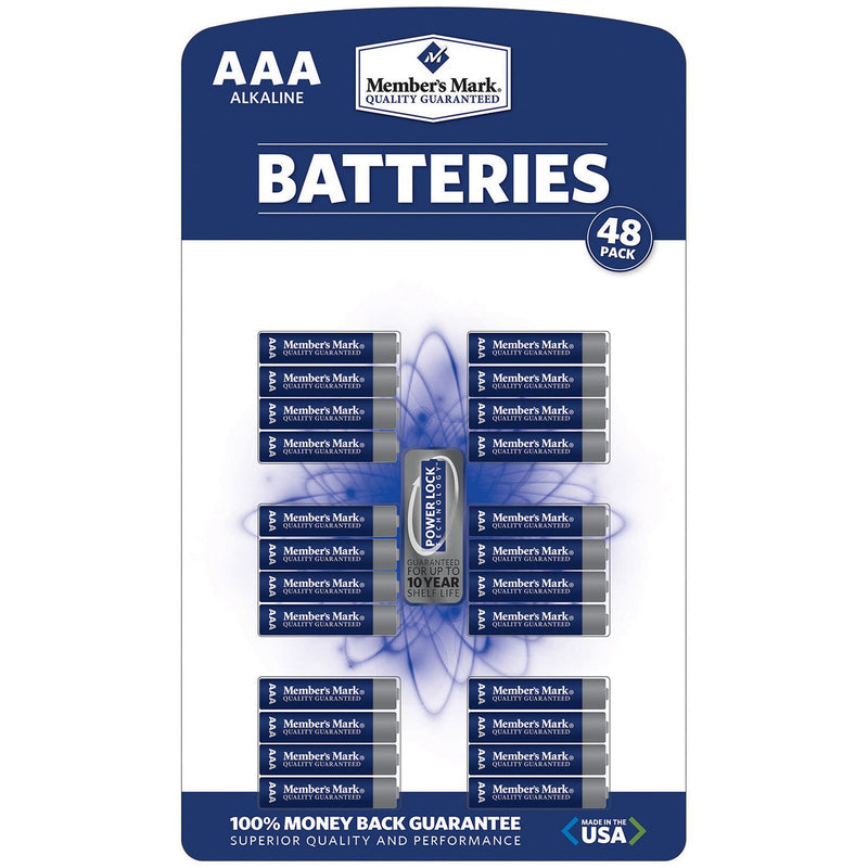 Member's Mark Alkaline AAA Batteries, 48ct