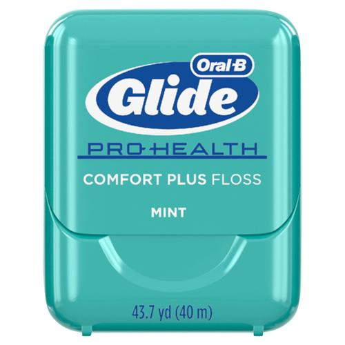 Oral-B Glide Pro-Health Comfort Plus Mint Floss, Mint, Pack of 6